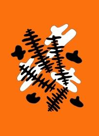 orange-and-white